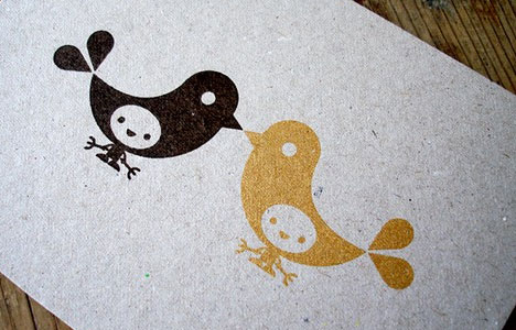 Little Birds Gocco print