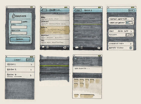 Sketch-in-web-design-Early-Ember-sketches-in-color