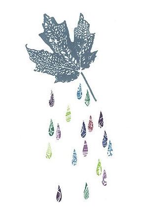 skeleton leaf gocco print