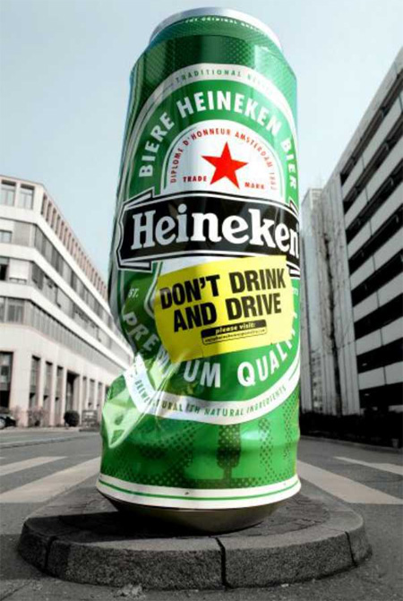 Heineken Column Advertisement - 喜力啤酒广告栏