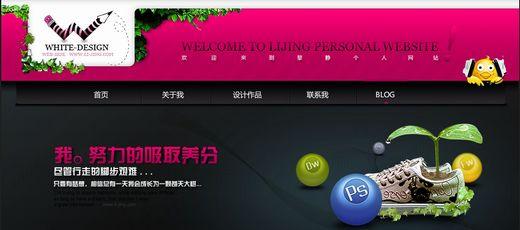 美妙绝伦的中文酷站设计大收集-黎静个人网站