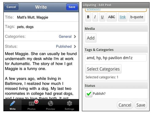 利用 WordPress 手机客户端应用程序(Android & Iphone)来管理博客