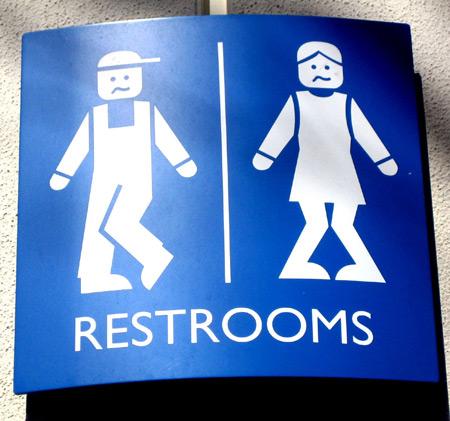 超有创意且十分搞笑的男女厕所标记