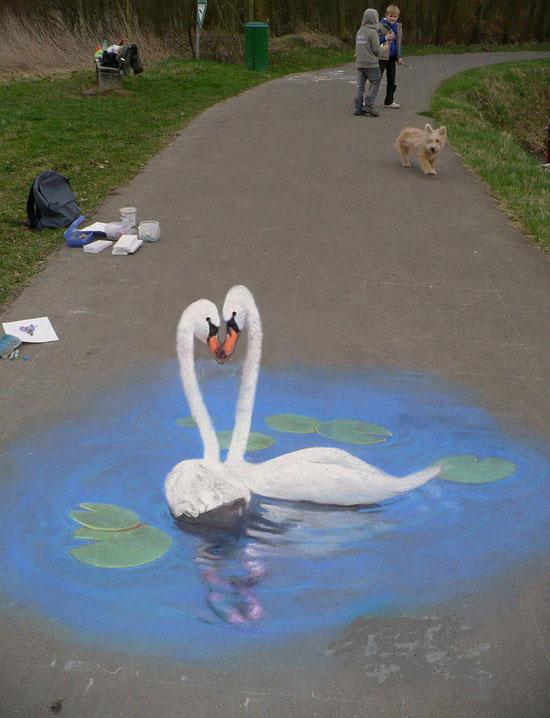 国外创意3D立体街头壁画艺术