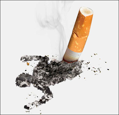 国外疯狂的创意禁烟广告