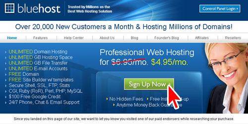 美国虚拟主机Bluehost注册教程