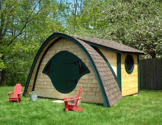 可爱唯美绿色的小屋