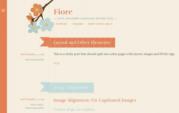 Fiore免费WordPress主题下载
