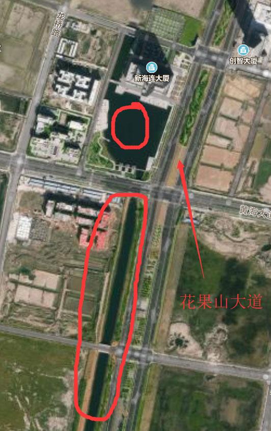 连云港大浦化工区 制药厂旁边新盖了好多居民楼 未来城市中心?